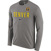 Nike Men's Denver Nuggets Dri-FIT Facility Long Sleeve Shirt