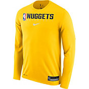 Nike Men's Denver Nuggets Dri-FIT Practice Long Sleeve Shirt