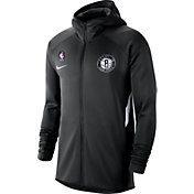Nike Men's Brooklyn Nets On-Court Therma Flex Showtime Full-Zip Hoodie