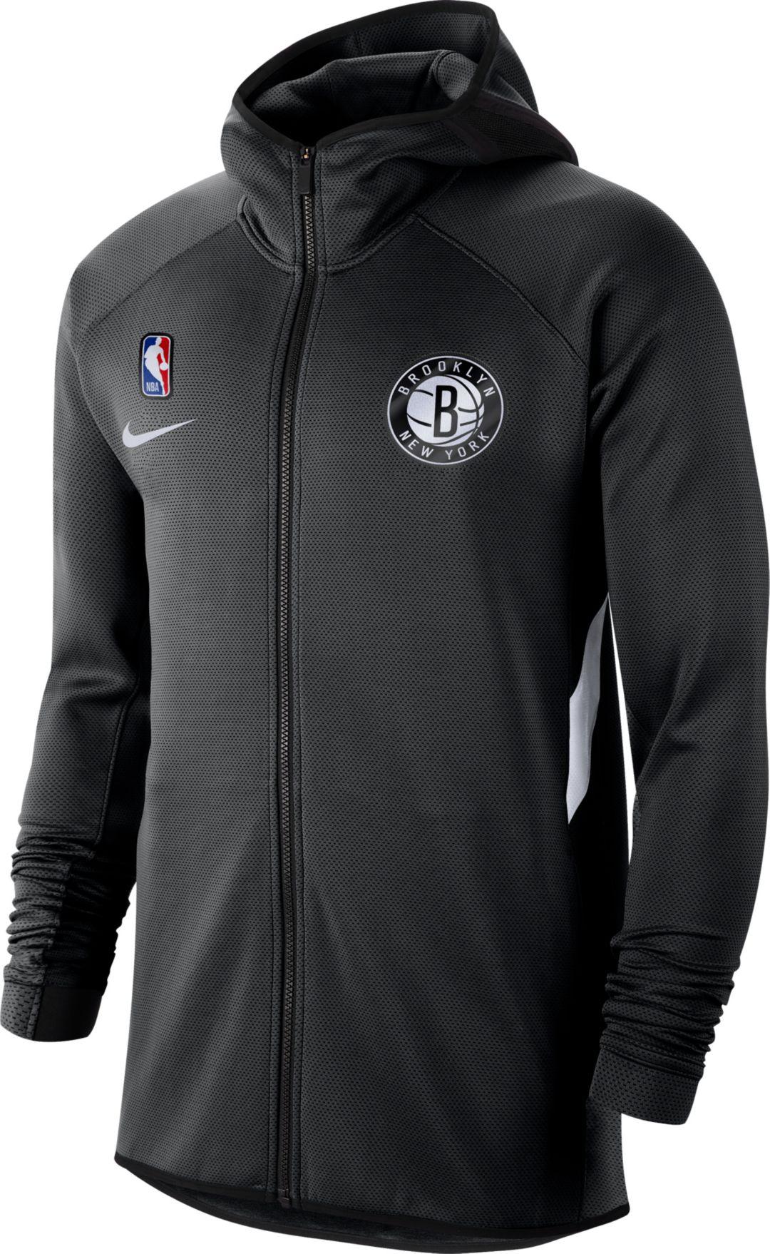 Nike Men's Brooklyn Nets On Court Therma Flex Showtime Full Zip Hoodie