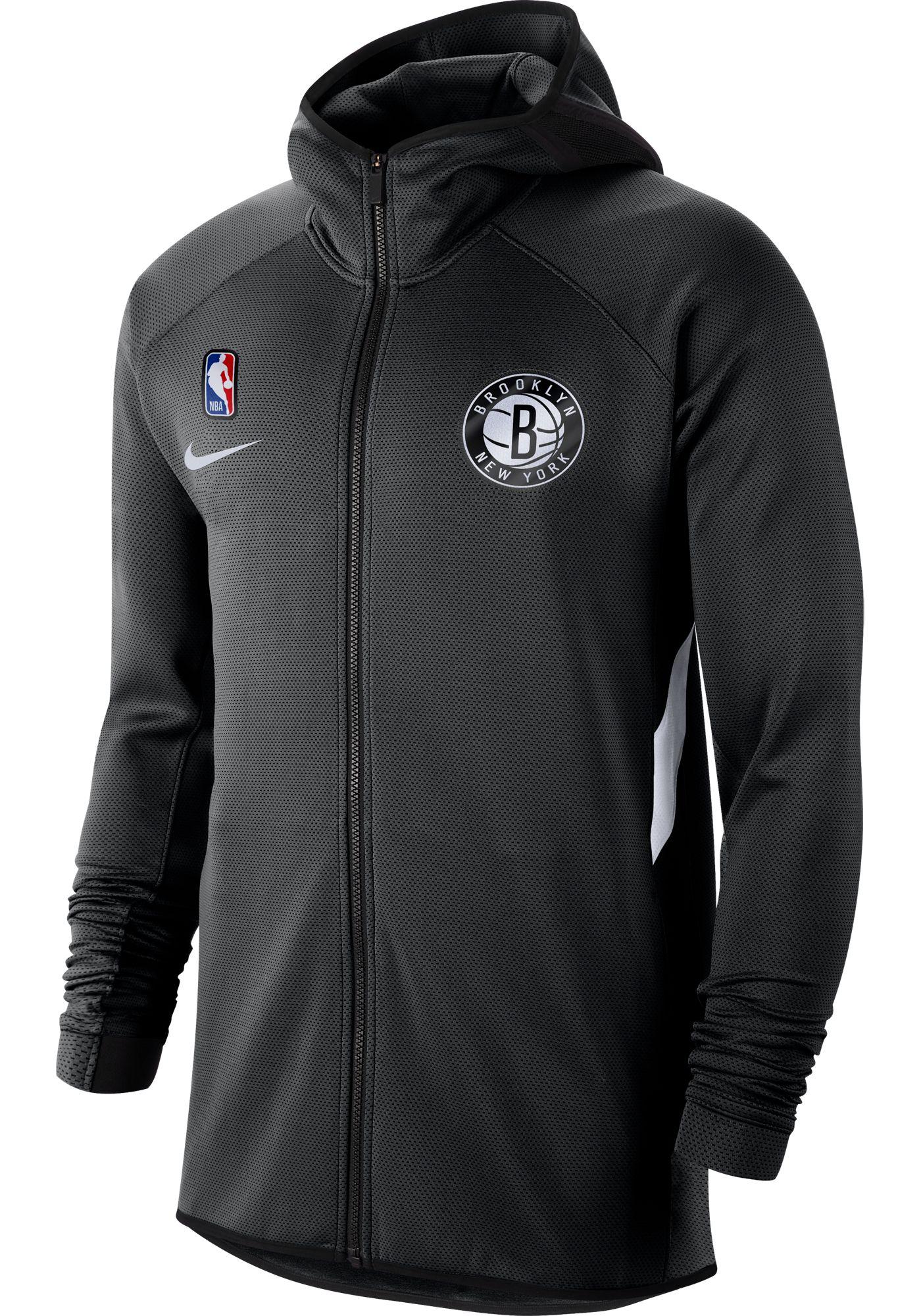 Nike Men's Brooklyn Nets On-Court Therma Flex Showtime Full-Zip Hoodie