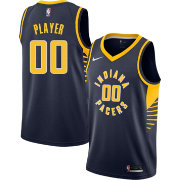 6661e42efac Nike Men's Full Roster Indiana Pacers Navy Dri-FIT Swingman Jersey ...
