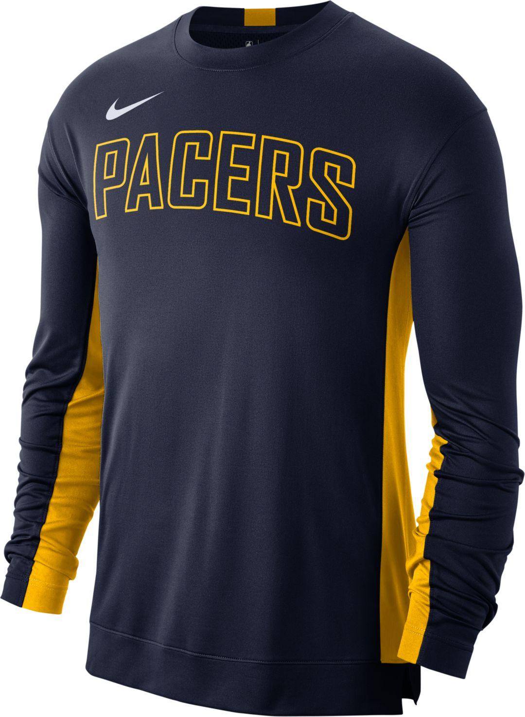sale retailer 96a5f fdd0e Nike Men's Indiana Pacers Dri-FIT Long Sleeve Shooting Shirt