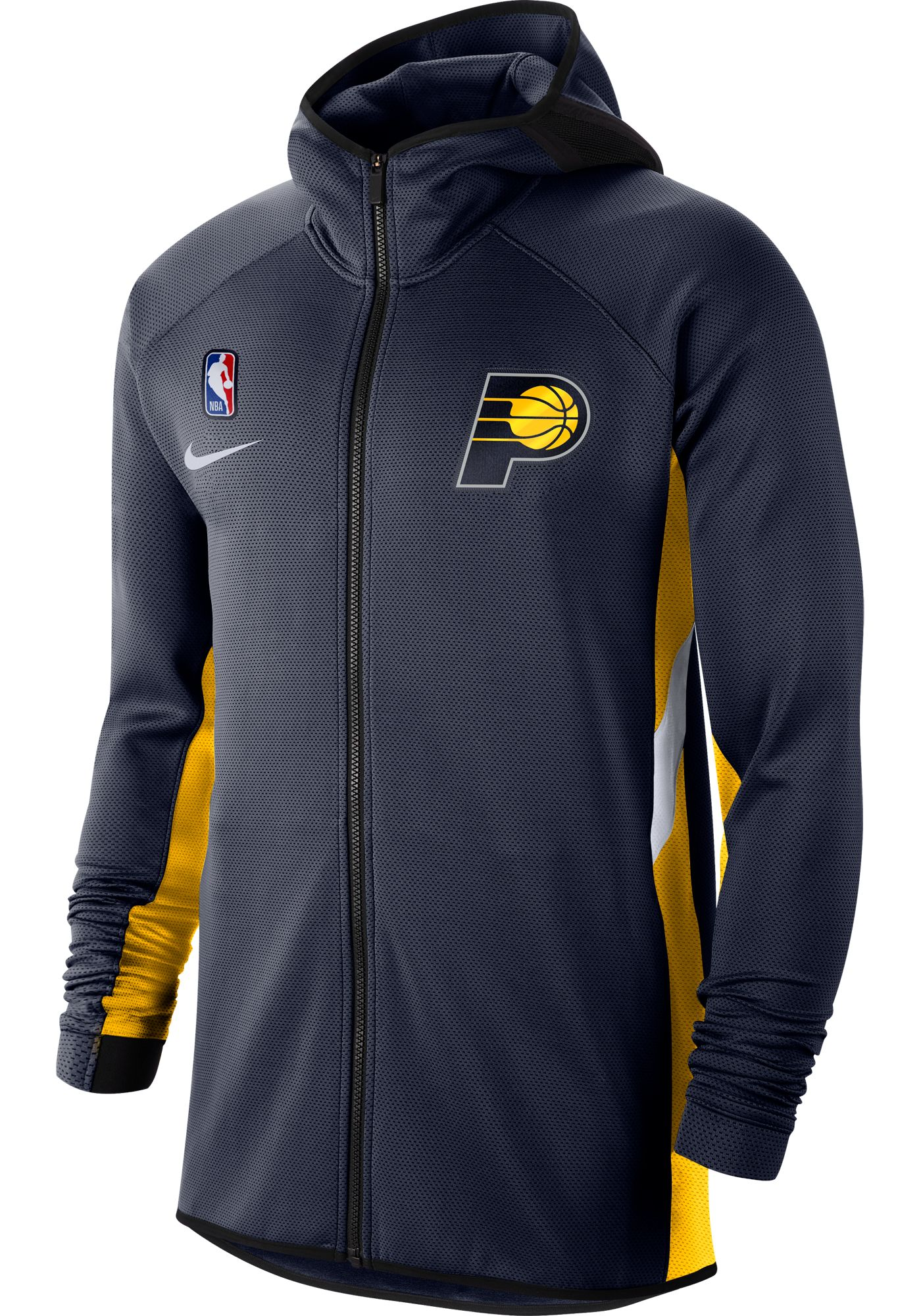 Nike Men's Indiana Pacers On-Court Therma Flex Showtime Full-Zip Hoodie