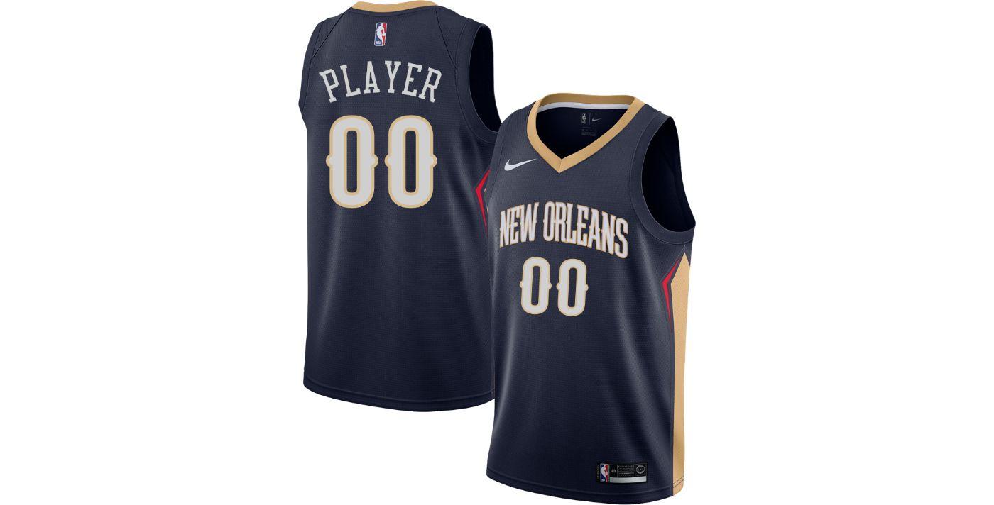 Nike Men's Full Roster New Orleans Pelicans Navy Dri-FIT Swingman Jersey