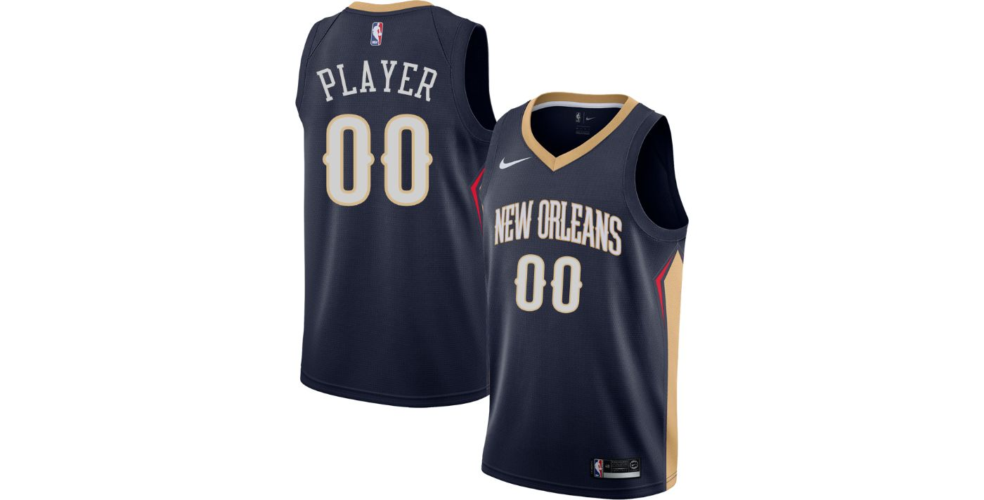 Nike Men's Full Roster New Orleans Pelicans Navy Dri-FIT Swingman Jersey
