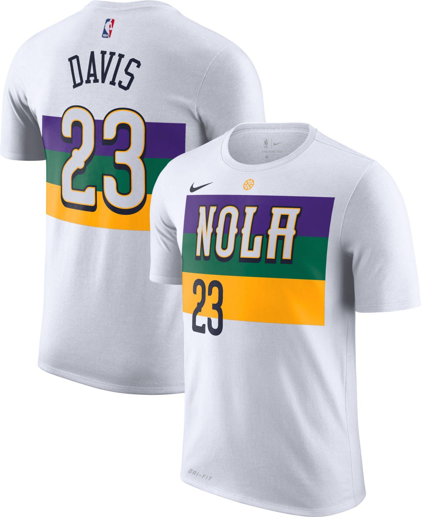 Nike Men's New Orleans Pelicans Anthony Davis Dri-FIT City Edition T-Shirt