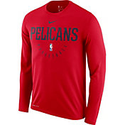 Nike Men's New Orleans Pelicans Dri-FIT Practice Long Sleeve Shirt