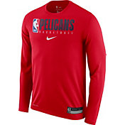 Nike Men's New Orleans Pelicans Dri-FIT Practice Long Sleeve Shirt