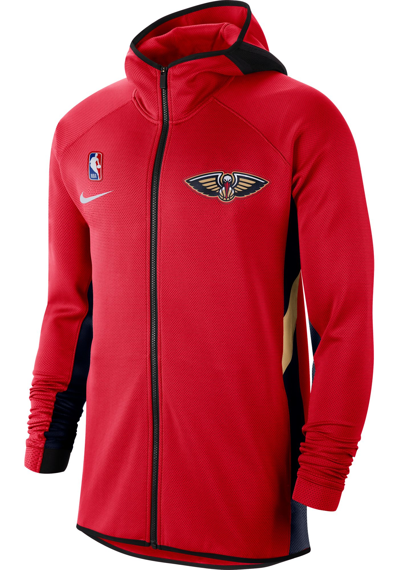 Nike Men's New Orleans Pelicans On-Court Therma Flex Showtime Full-Zip Hoodie