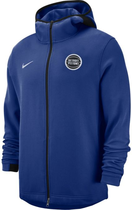 Nike Men s Detroit Pistons On-Court Dri-FIT Showtime Full-Zip Hoodie ... 842ce50c1