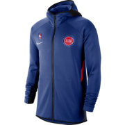 Nike Men's Detroit Pistons On-Court Therma Flex Showtime Full-Zip Hoodie