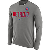 Nike Men's Detroit Pistons Dri-FIT Facility Long Sleeve Shirt
