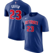 Nike Men's Detroit Pistons Blake Griffin #23 Dri-FIT Royal T-Shirt