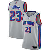 Nike Men's Detroit Pistons Blake Griffin #23 Grey Dri-FIT Swingman Jersey