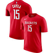 Nike Men's Houston Rockets Clint Capela #15 Dri-FIT Red T-Shirt