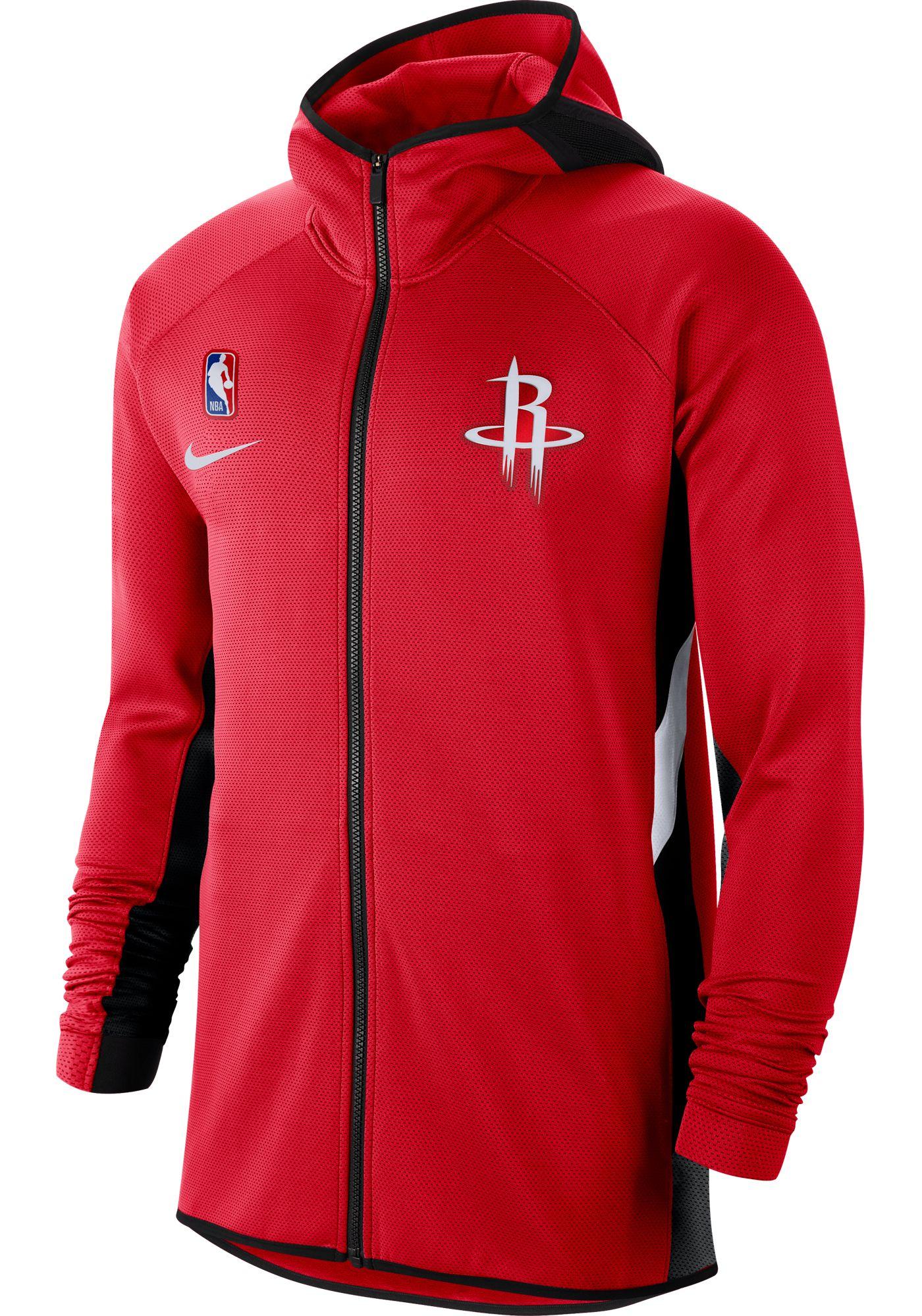 Nike Men's Houston Rockets On-Court Therma Flex Showtime Full-Zip Hoodie