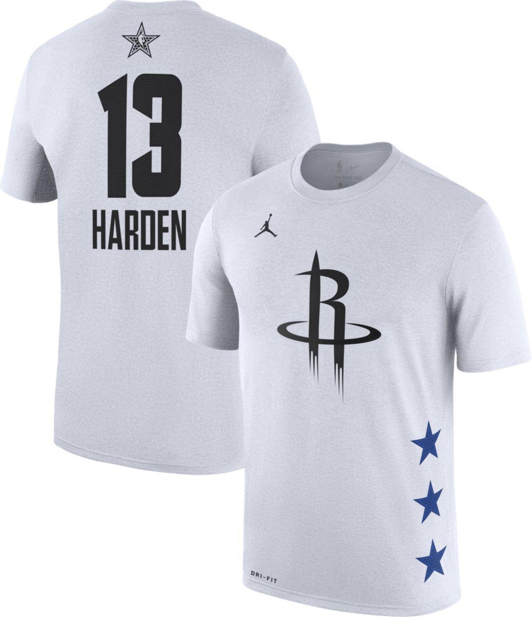 new style b19f7 3171f Jordan Men's 2019 NBA All-Star Game James Harden Dri-FIT White T-Shirt