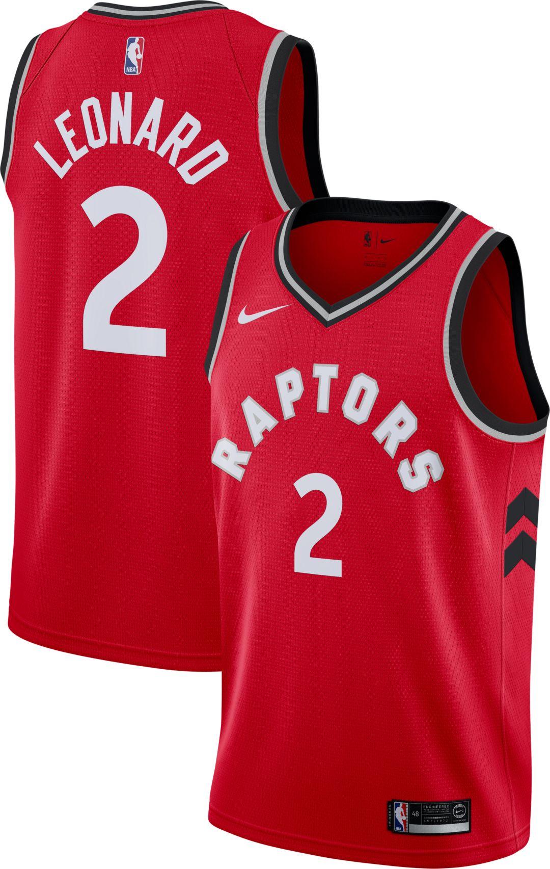 9cd57755889a Nike Men s Toronto Raptors Kawhi Leonard  2 Red Dri-FIT Swingman Jersey 1