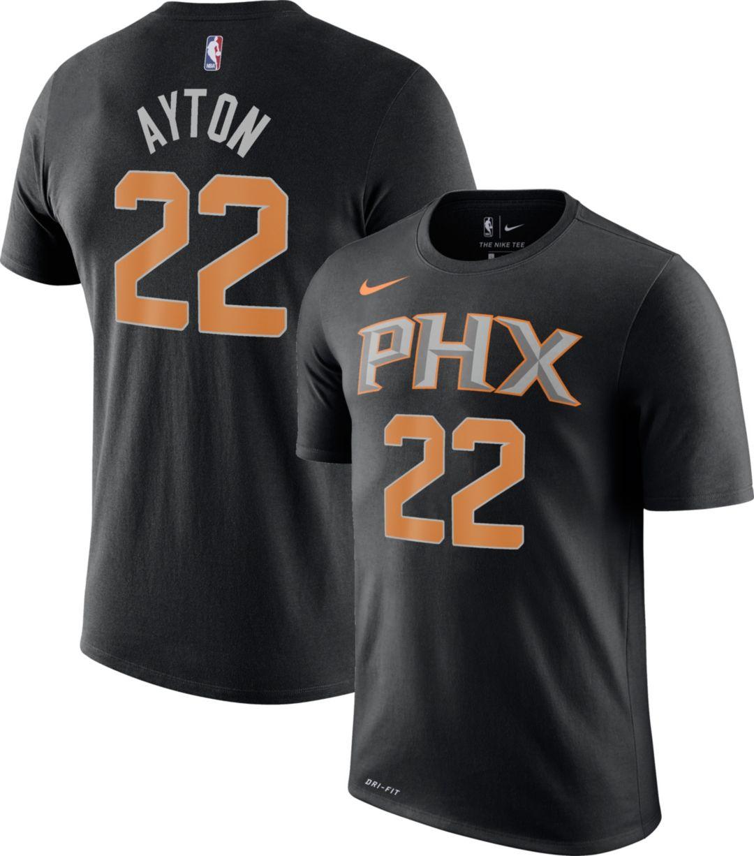 sale retailer ede1b 33a86 Nike Men's Phoenix Suns DeAndre Ayton #22 Dri-FIT Black T-Shirt