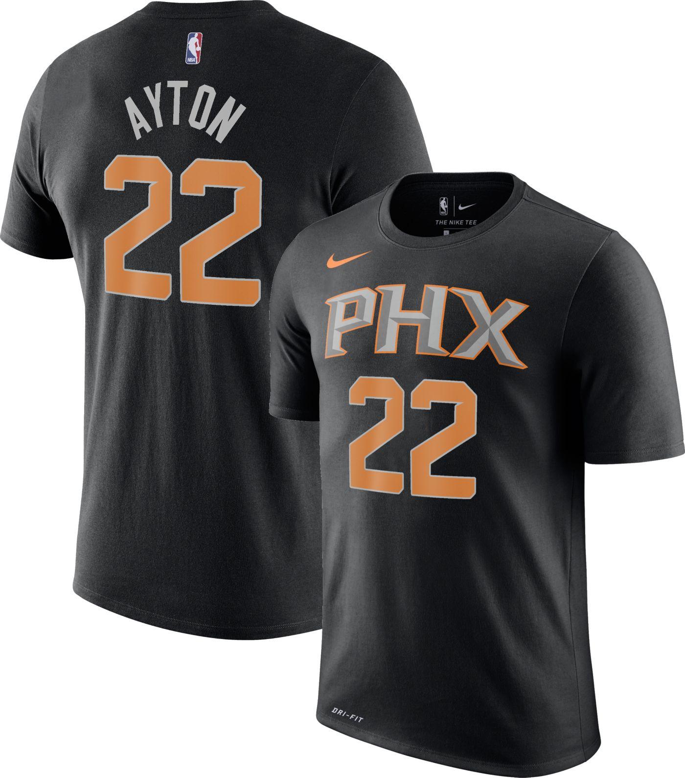 Nike Men's Phoenix Suns DeAndre Ayton #22 Dri-FIT Black T-Shirt