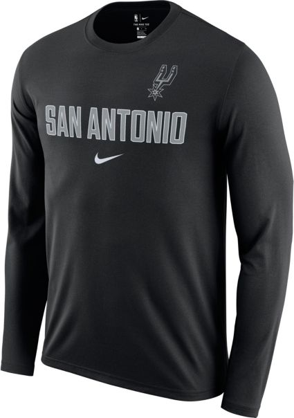 9638f96a1 Nike Men s San Antonio Spurs Dri-FIT Facility Long Sleeve Shirt.  noImageFound