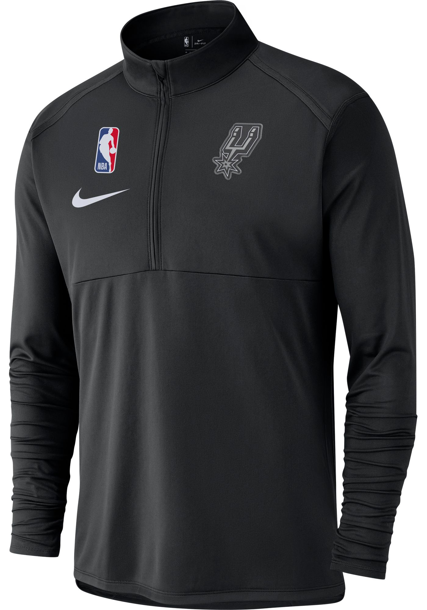 Nike Men's San Antonio Spurs Dri-FIT Element Half-Zip Pullover