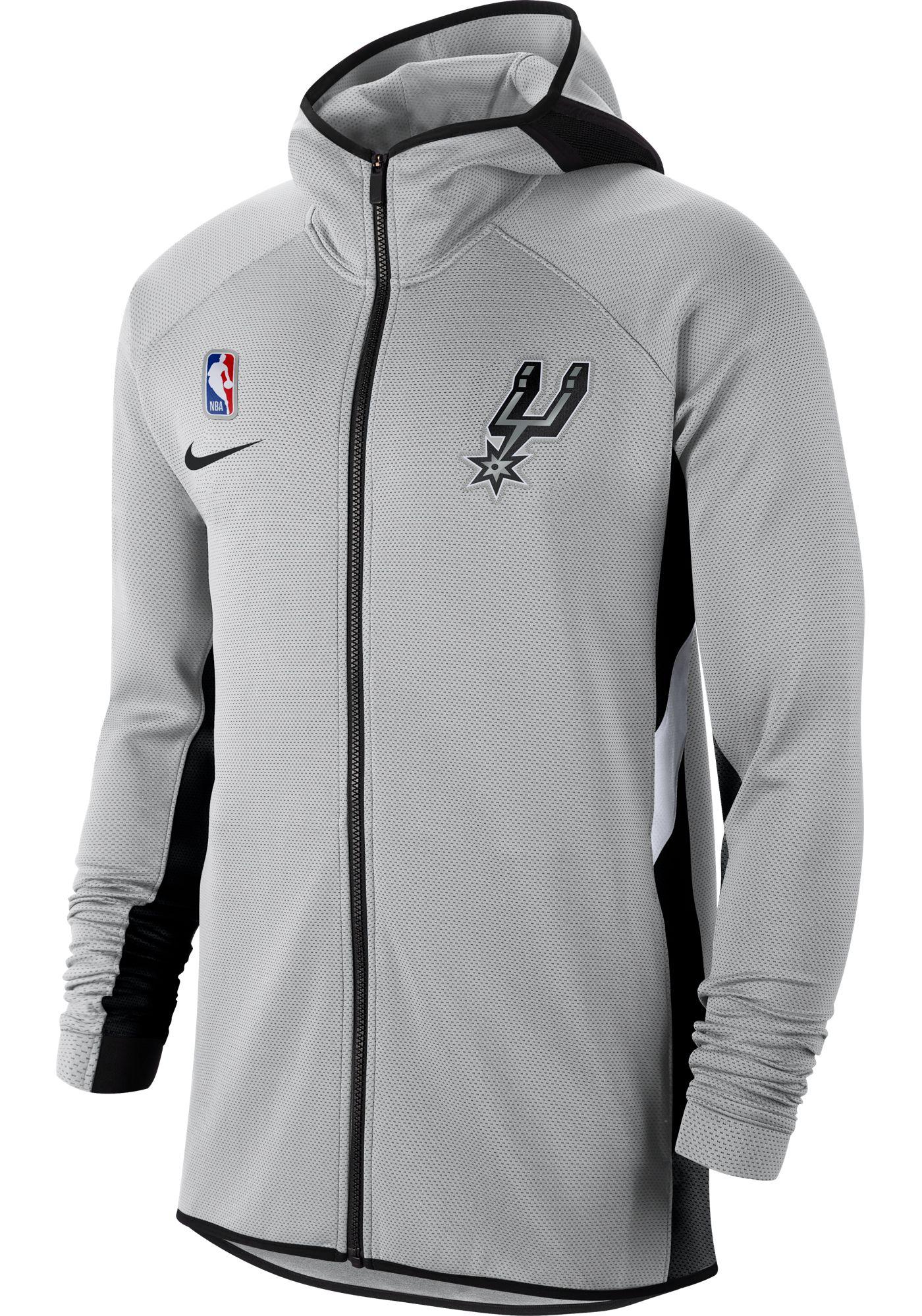 Nike Men's San Antonio Spurs On-Court Therma Flex Showtime Full-Zip Hoodie