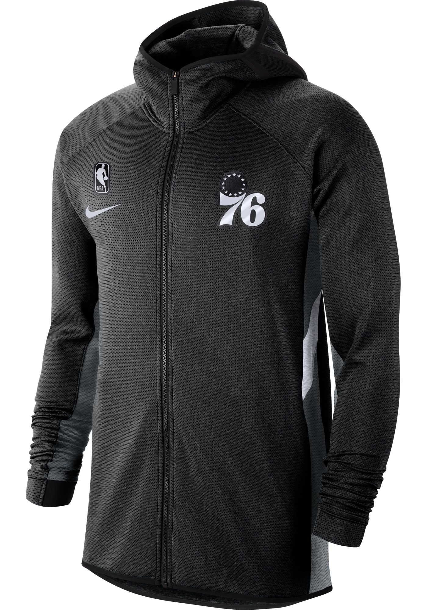 Nike Men's Philadelphia 76ers On-Court Therma Flex Showtime Full-Zip Hoodie