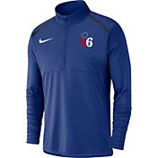 Nike Men's Philadelphia 76ers Dri-FIT Element Half-Zip Pullover