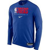 Nike Men's Philadelphia 76ers Dri-FIT Practice Long Sleeve Shirt