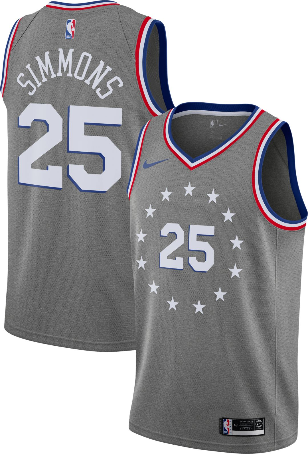 size 40 5710f 225d2 Nike Men's Philadelphia 76ers Ben Simmons Dri-FIT City Edition Swingman  Jersey