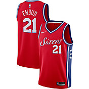 Nike Men's Philadelphia 76ers Joel Embiid #21 Red Dri-FIT Swingman Jersey