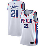 Nike Men's Philadelphia 76ers Joel Embiid #21 White Dri-FIT Swingman Jersey