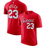 Nike Men's Philadelphia 76ers Jimmy Butler #23 Dri-FIT Red T-Shirt