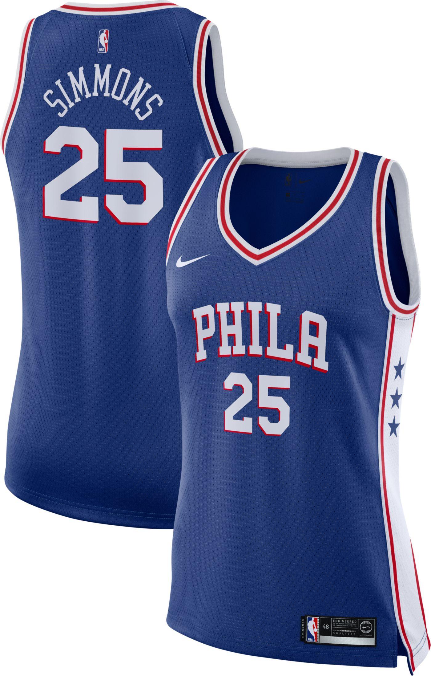Nike Women's Philadelphia 76ers Ben Simmons #25 Royal Dri-FIT Swingman Jersey