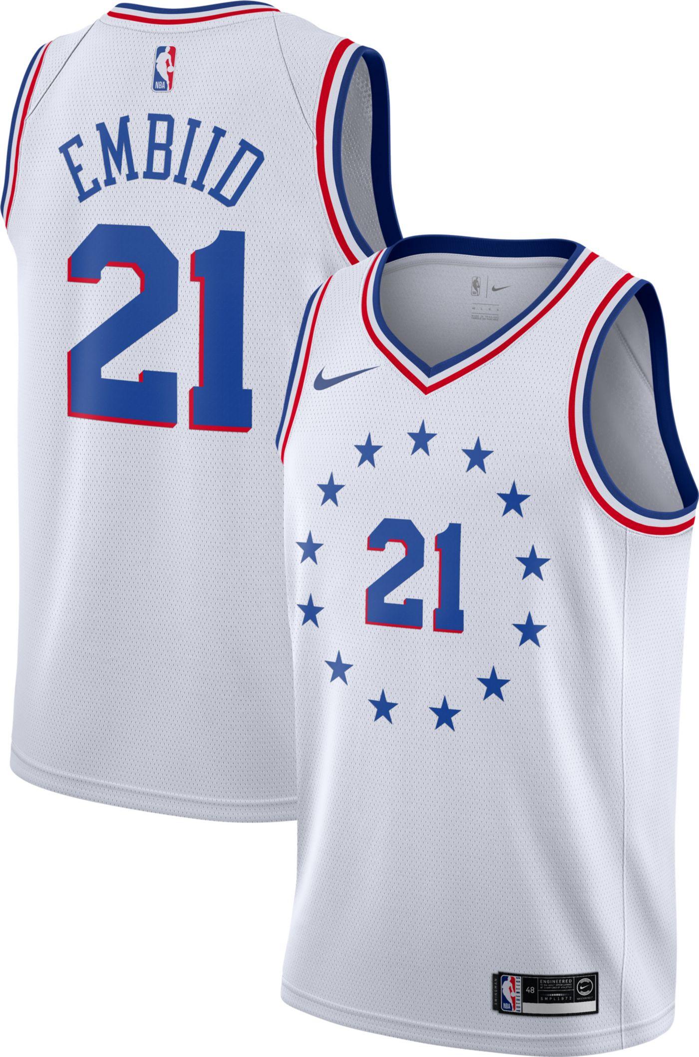 Nike Men's Philadelphia 76ers Joel Embiid Dri-FIT Earned Edition Swingman Jersey