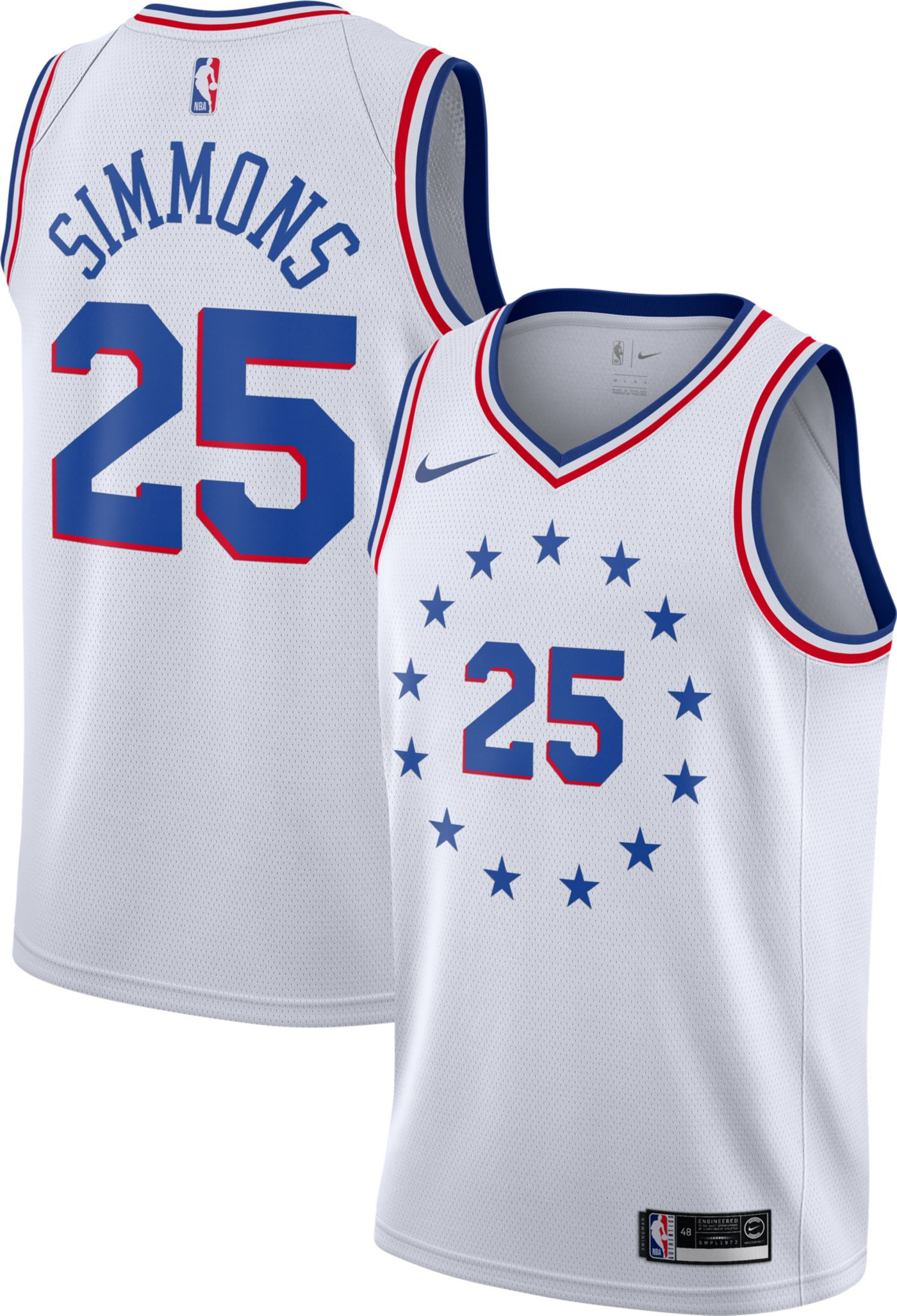 Nike Men's Philadelphia 76ers Ben Simmons Dri-FIT Earned Edition Swingman Jersey