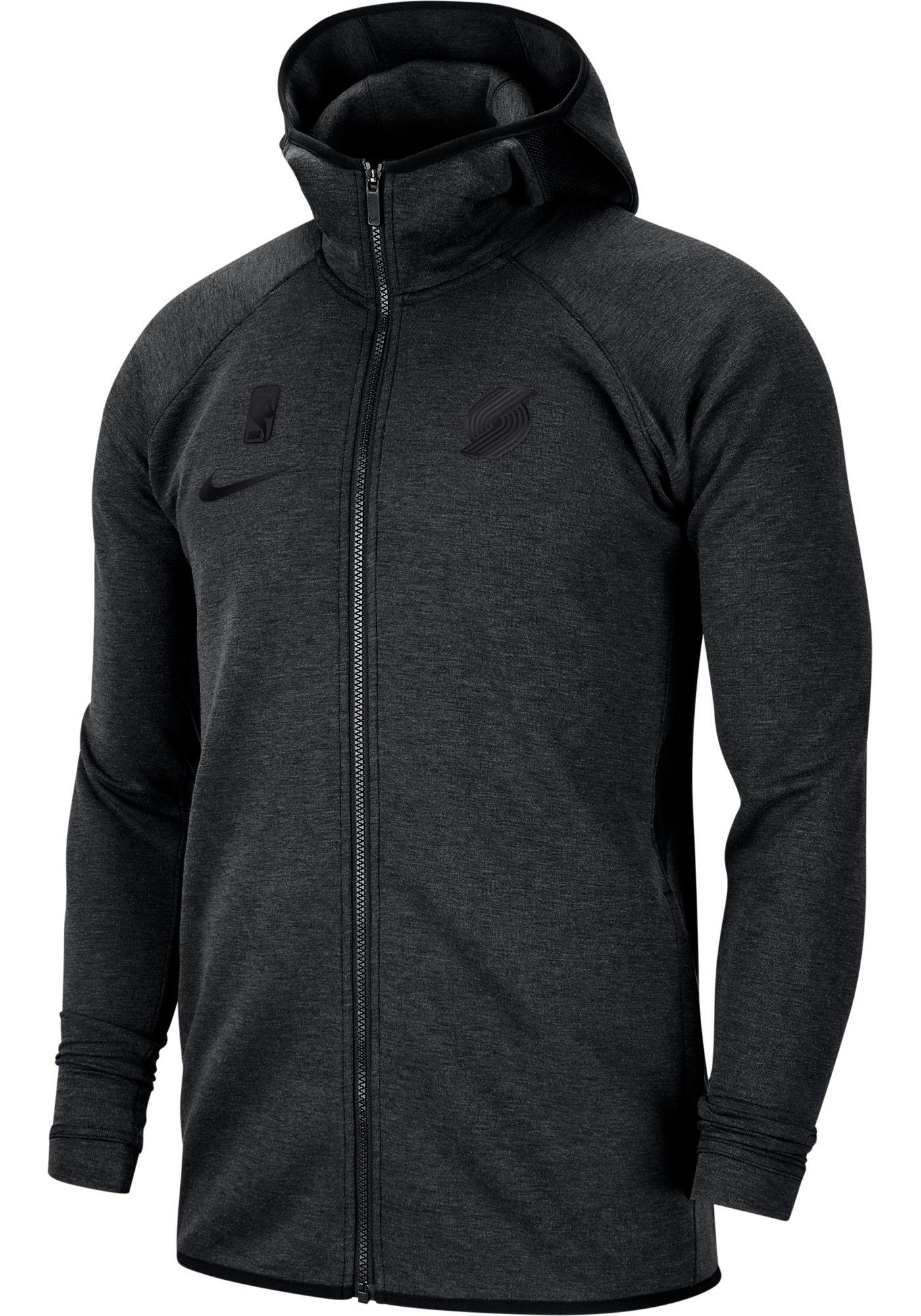 Nike Men's Portland Trail Blazers On-Court Dri-FIT Showtime Full-Zip Hoodie