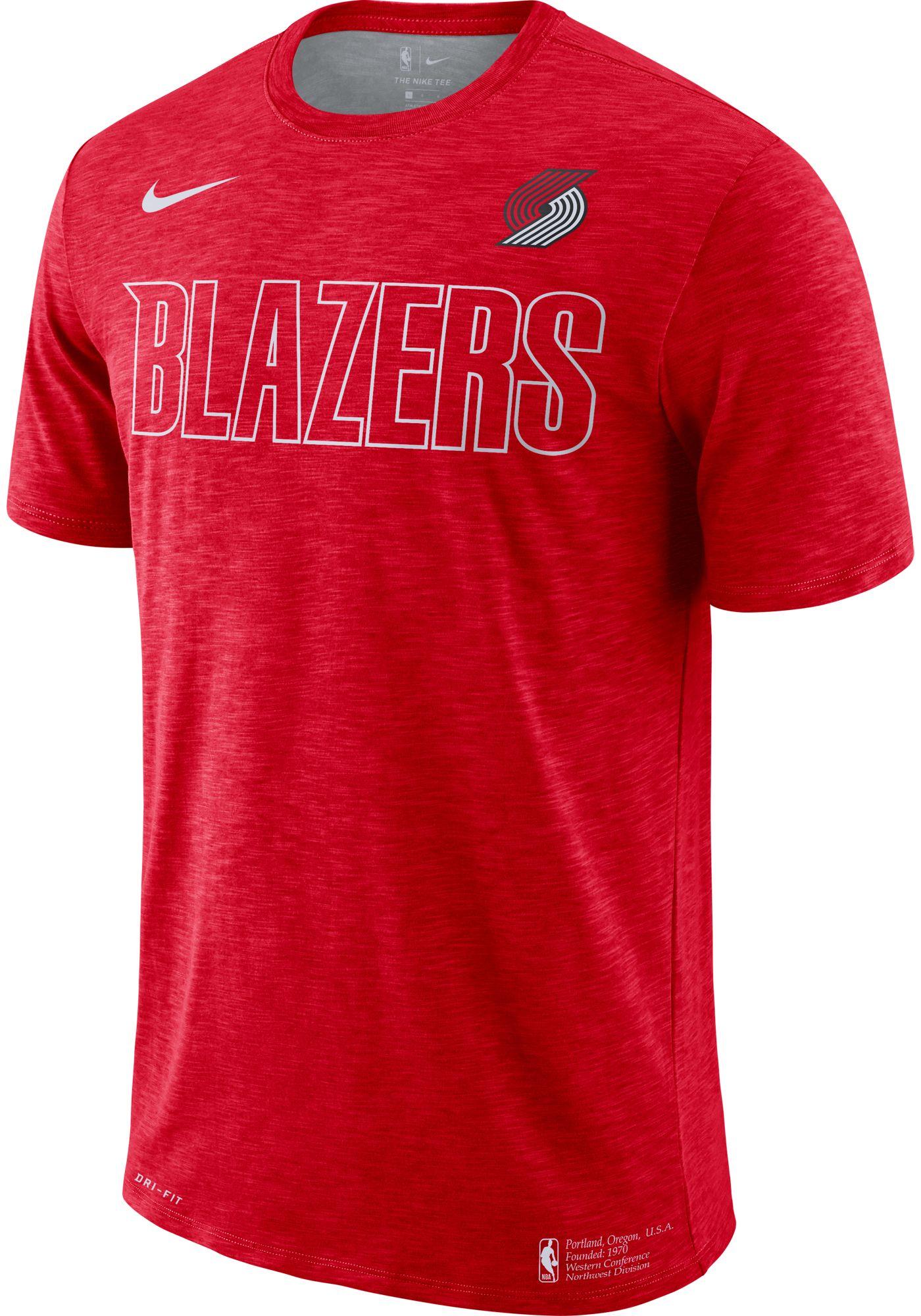 Nike Men's Portland Trail Blazers Dri-FIT Facility T-Shirt