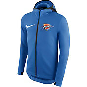 Nike Men's Oklahoma City Thunder On-Court Therma Flex Showtime Full-Zip Hoodie