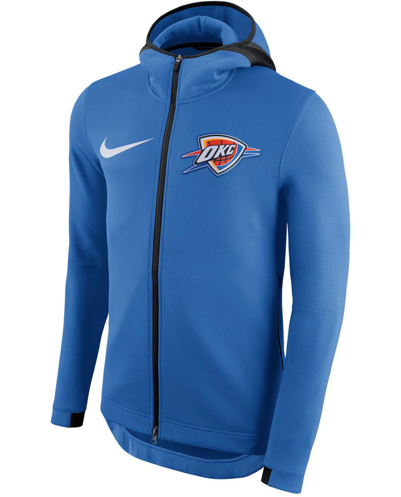 Nike Men's Oklahoma City Thunder On-Court Therma Flex Showtime Full-Zip Hoodie