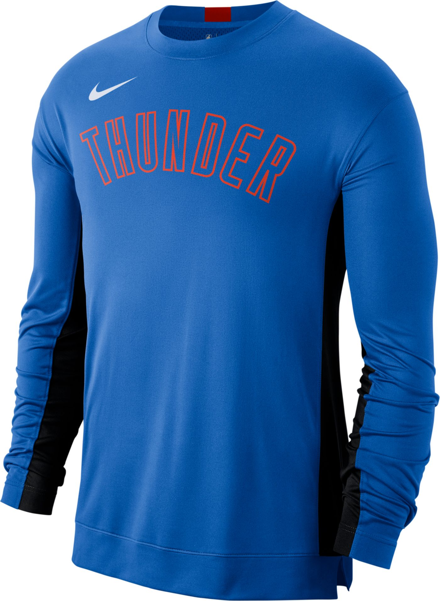 Nike Men's Oklahoma City Thunder Dri-FIT Long Sleeve Shooting  Shirt