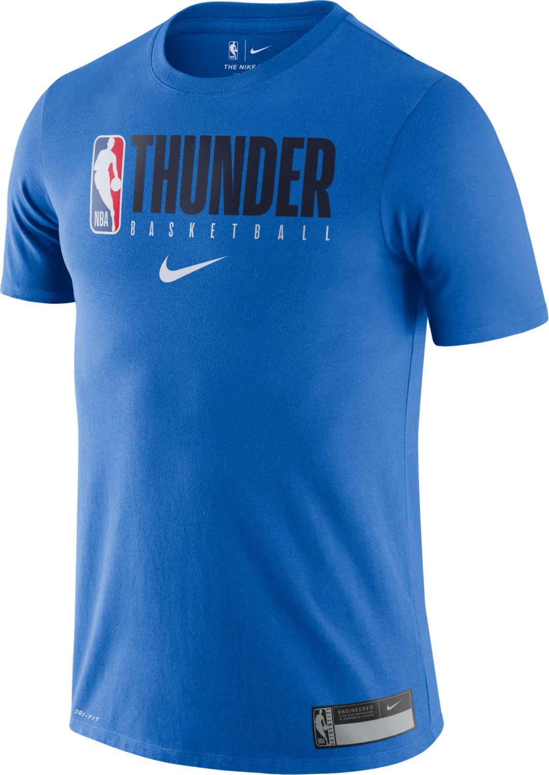sports shoes 1cb0a a16ca Nike Men's Oklahoma City Thunder Dri-FIT Practice T-Shirt