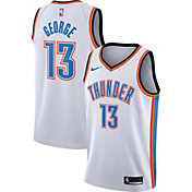 Nike Men's Oklahoma City Thunder Paul George #13 White Dri-FIT Swingman Jersey