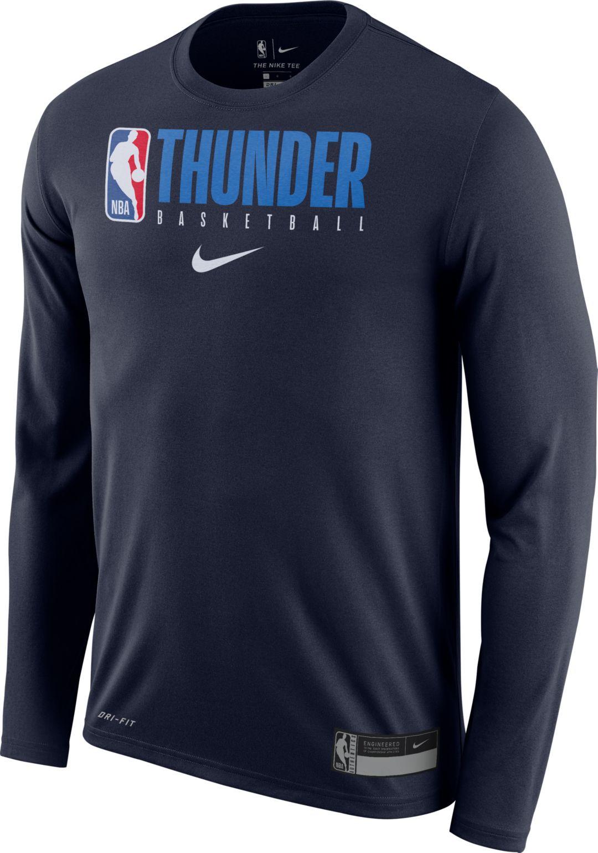 first rate 97e97 0fac3 Nike Men's Oklahoma City Thunder Dri-FIT Practice Long Sleeve Shirt