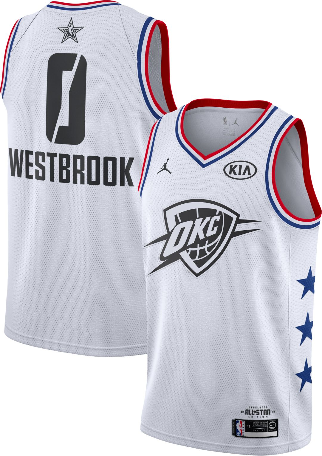 77c4d6fe1 Jordan Men s 2019 NBA All-Star Game Russell Westbrook White Dri-FIT  Swingman Jersey