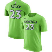 Nike Men's Minnesota Timberwolves Jimmy Butler #23 Dri-FIT Green T-Shirt
