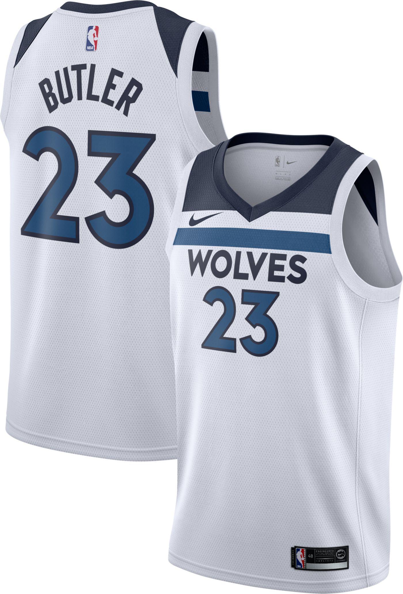 Nike Men's Minnesota Timberwolves Jimmy Butler #23 White Dri-FIT Swingman Jersey
