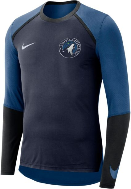 Nike Men s Minnesota Timberwolves Dri-FIT Long Sleeve Shirt. noImageFound d39169c95